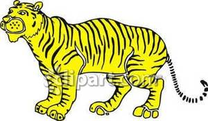 Tiger clipart yellow #3