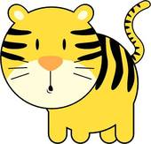 Tiger clipart yellow #6