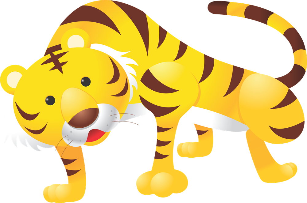 Tiger clipart yellow #2