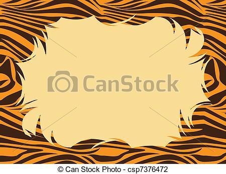 Tiger Print clipart orange  Fur of Tiger Border