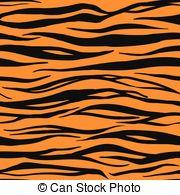 Tiger Print clipart orange Tiger Vector of Pattern
