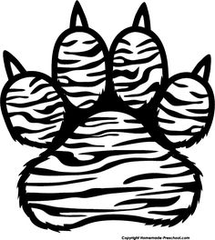 Tiger Print clipart black and white #14