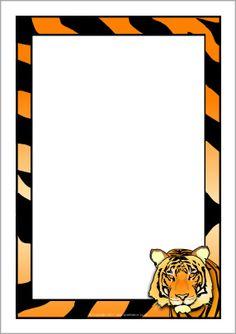 Tiger Print clipart border #5