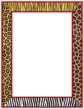 Tiger Print clipart border #6