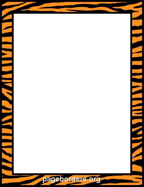 Tiger Print clipart border #3