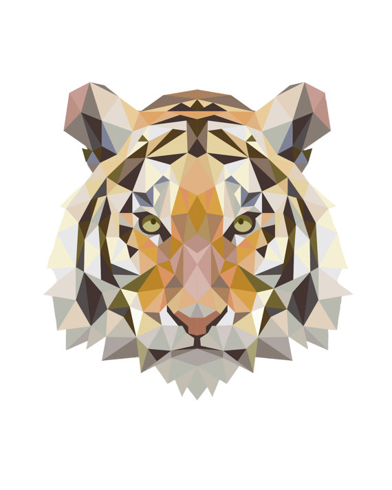 Tiger Print clipart bruin Tiger Tiger Tiger Poly Low