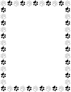 Paw clipart border Art Page Graphics and Black