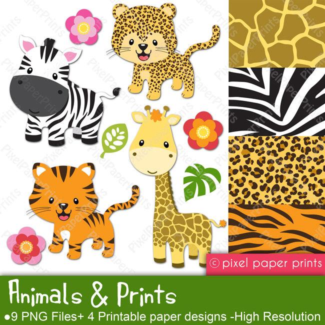 Tiger Print clipart jungle animal #11