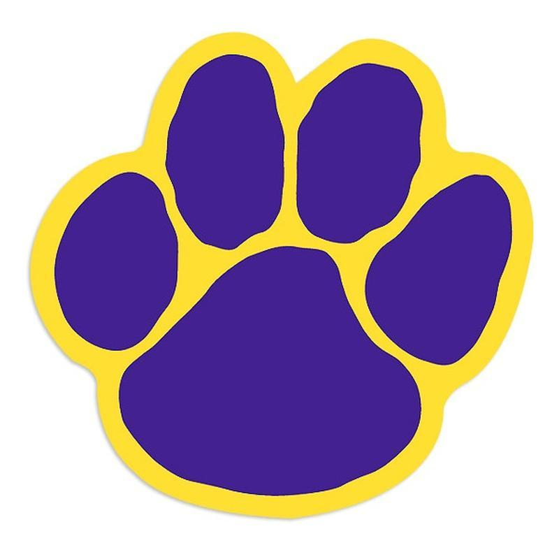 Paw clipart lsu tiger  Appling District School County