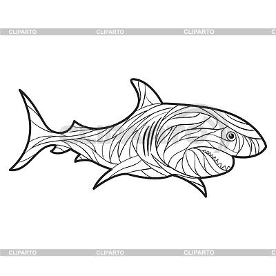 Tiger Shark clipart hand drawn #10