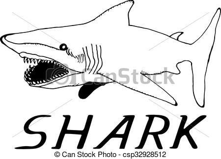 Tiger Shark clipart hand drawn #5
