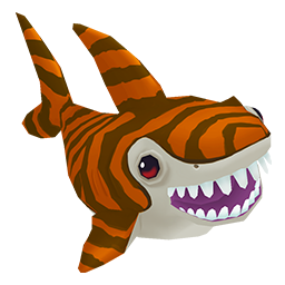 Tiger Shark clipart orange #9