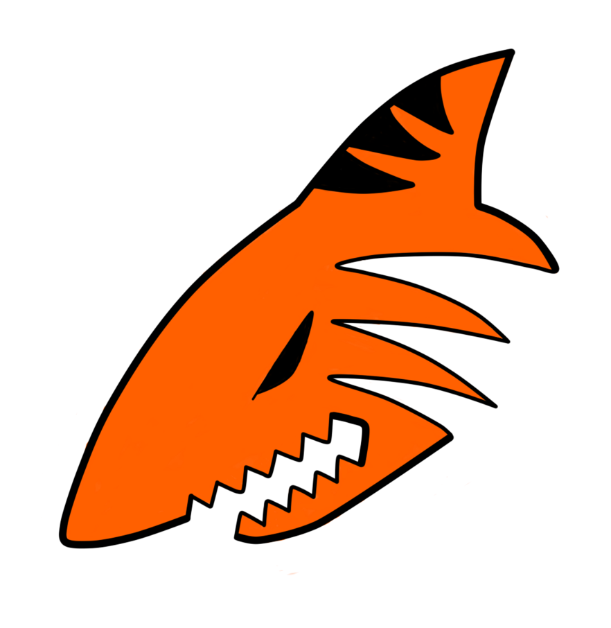 Tiger Shark clipart orange #9