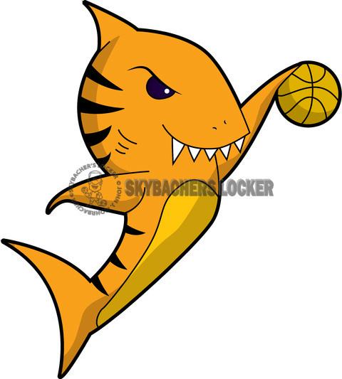 Tiger Shark clipart orange #8