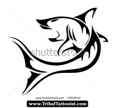 Tiger Shark clipart tribal #5