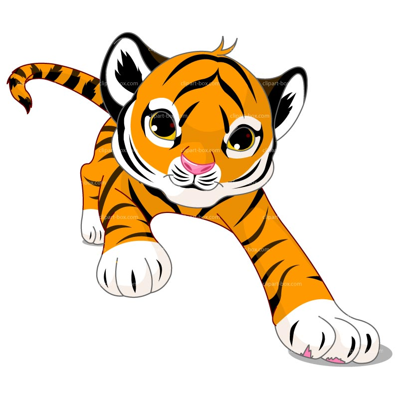 Simple clipart tiger Cartoon tiger cute Tiger Free