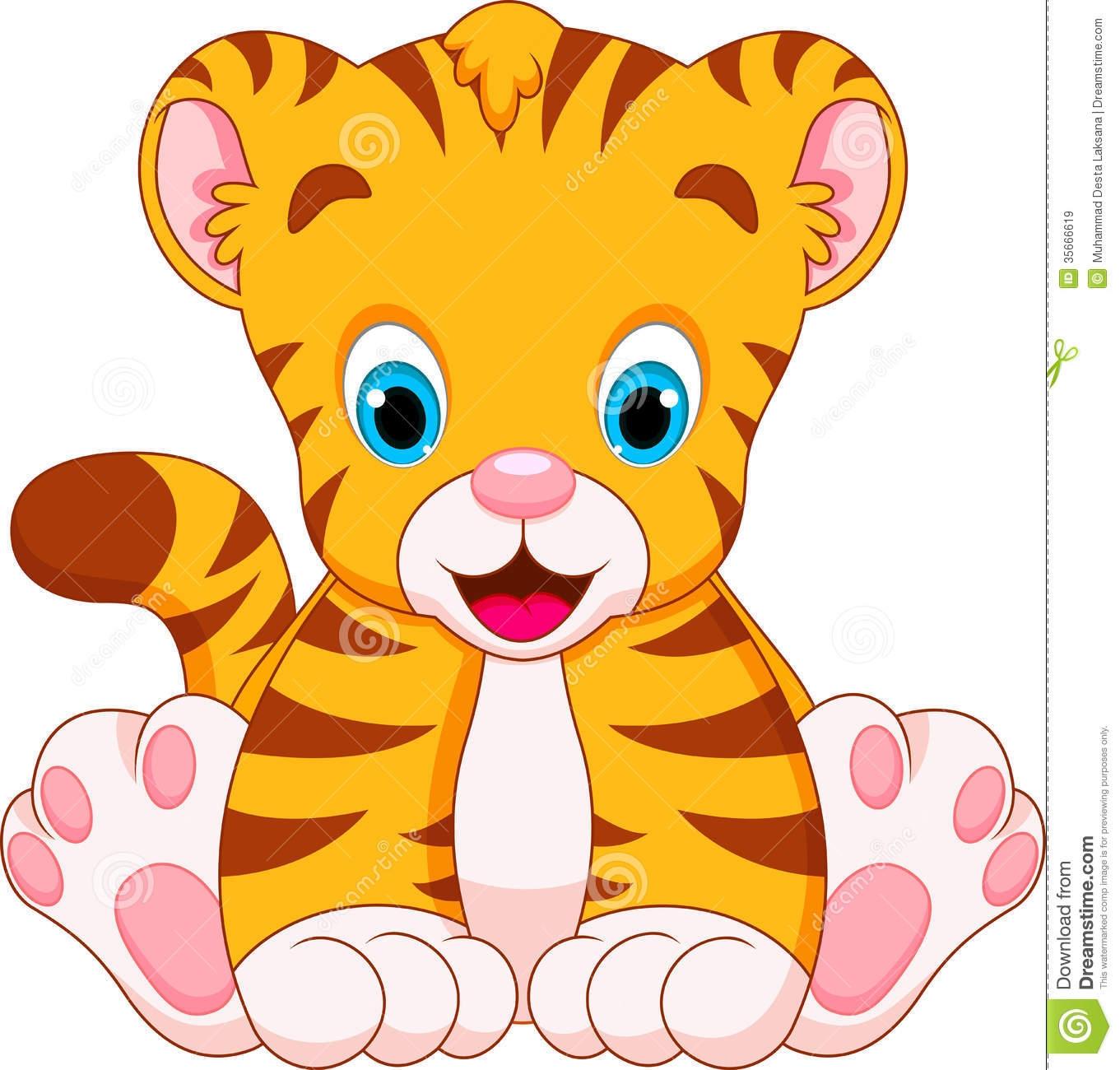 Tigres clipart adorable #6
