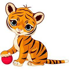 Tigres clipart adorable #3