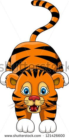 Tigres clipart adorable #13