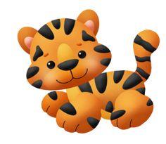 Tigres clipart adorable #11
