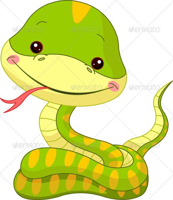 Tigres clipart cute baby snake #10