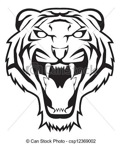 Tigres clipart drawn #9