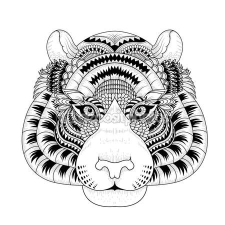 Tigres clipart drawn #11