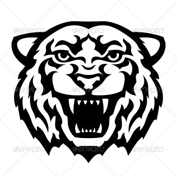 Tigres clipart drawn #10