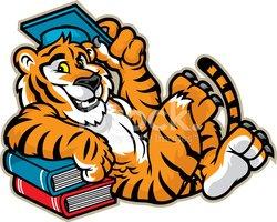 Tigres clipart graduate #7
