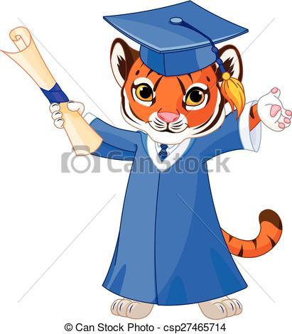 Tigres clipart graduate #5