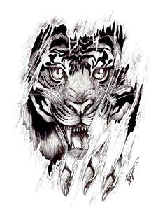 Tigres clipart mean #15