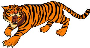 Tigres clipart mean #7