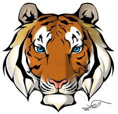 Tigres clipart realistic cartoon #6