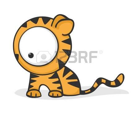 Tigres clipart realistic cartoon #12