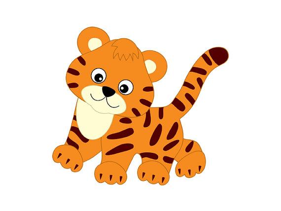 Tigres clipart realistic cartoon #3