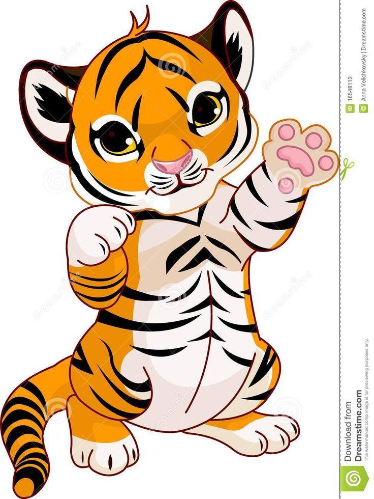 Tigres clipart realistic cartoon #2