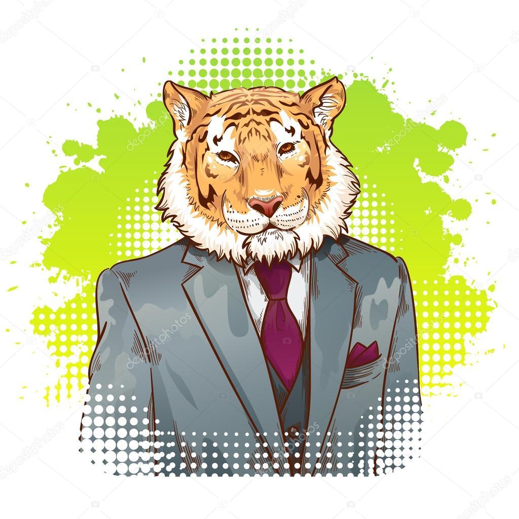 Tigres clipart realistic cartoon #15