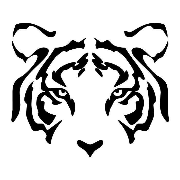 Tigres clipart side view #6