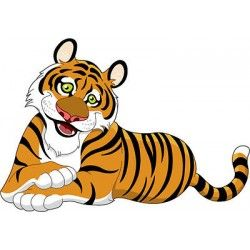 Tigres clipart side view #10