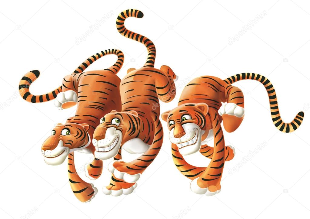 Tigres clipart smiling #7