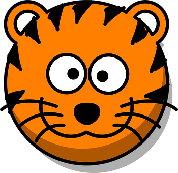 Tigres clipart smiling #3