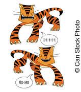 Tigres clipart smiling #4
