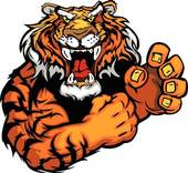 Tiger clipart angry #6