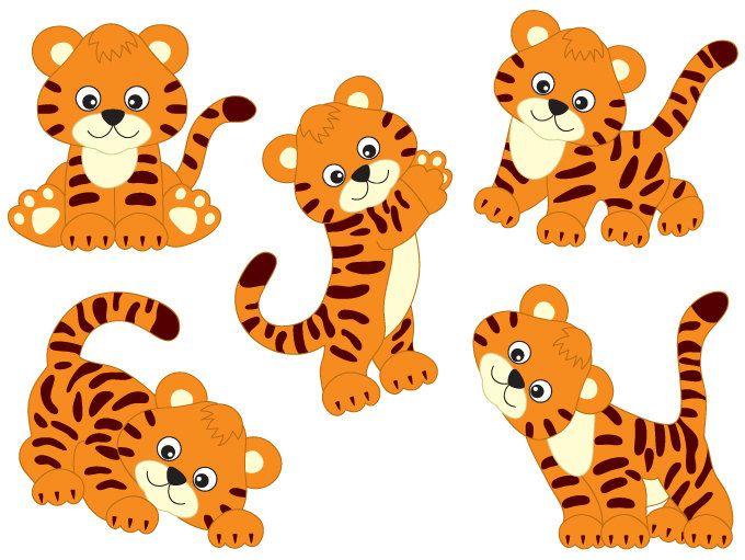 Tiger clipart baby boy #11