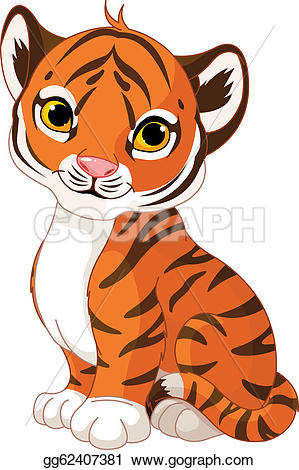 Tiger clipart orange #11