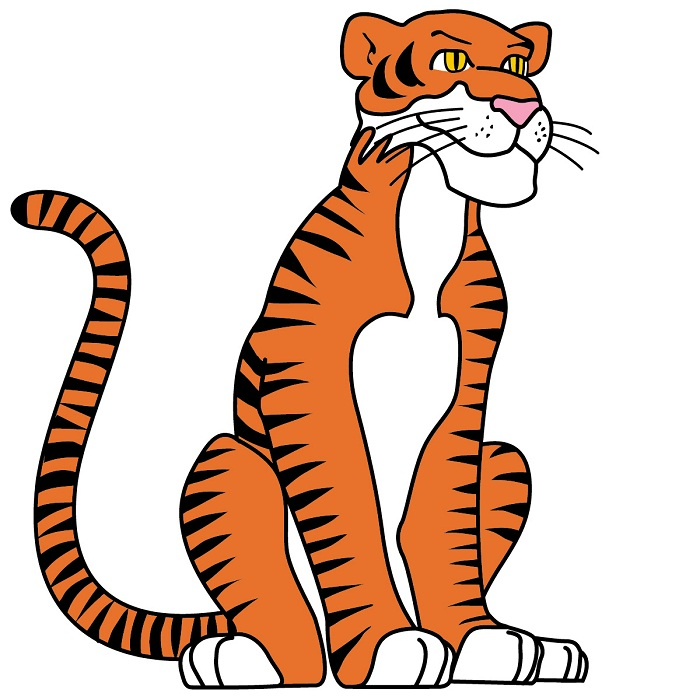Tiiger clipart funny #14