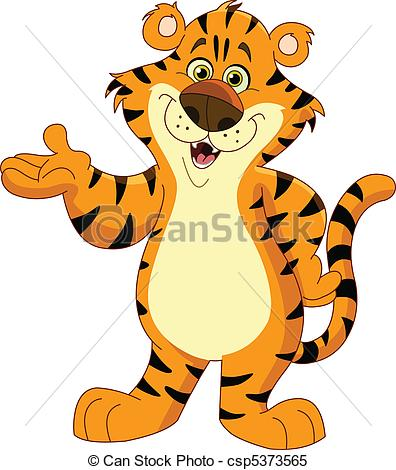 Tiger clipart orange #13