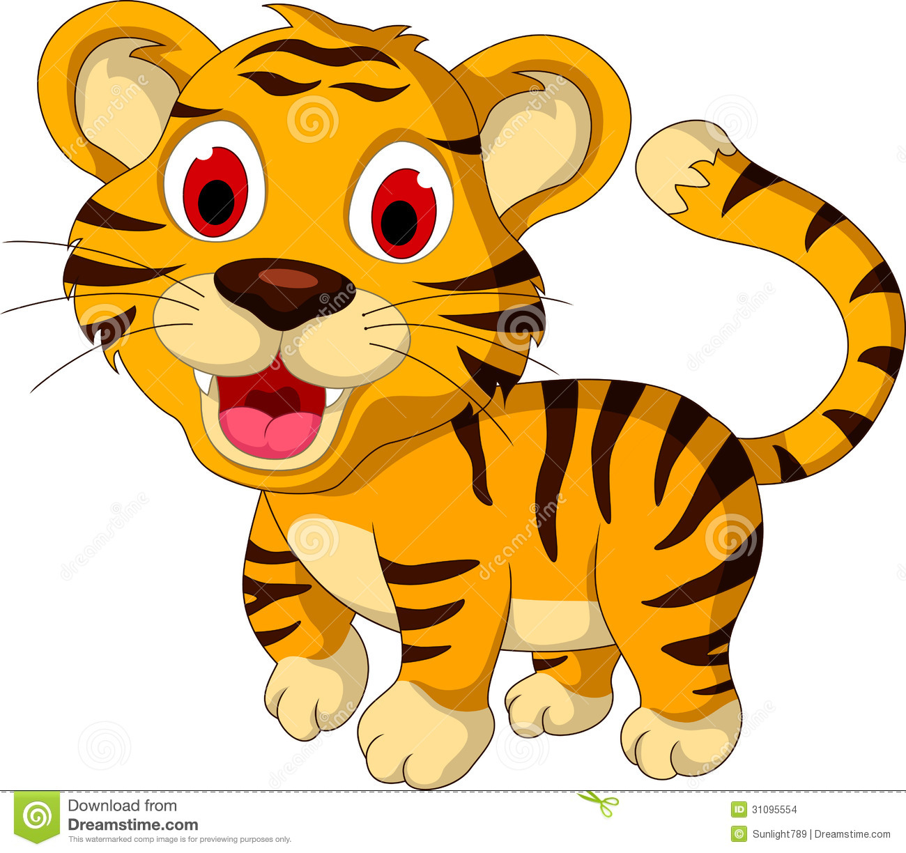 Tiiger clipart yellow #12