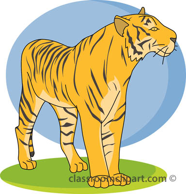 Tiiger clipart yellow #11