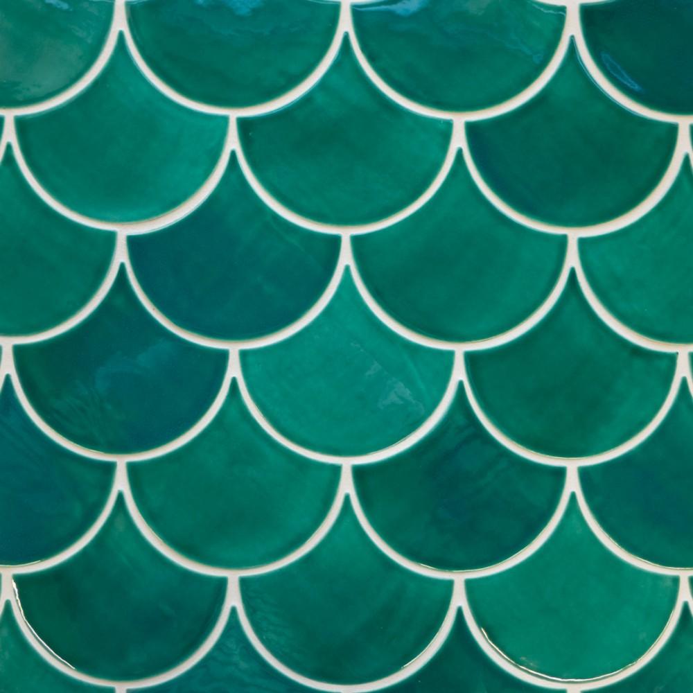 Tiles clipart aqua green  Scales Moroccan Fish